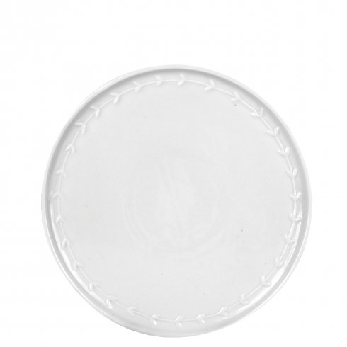 Bastion Collections Breakfast Plate White with little hearts