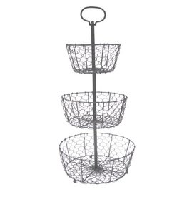 Bastion Collections Etagere Wire in Grey
