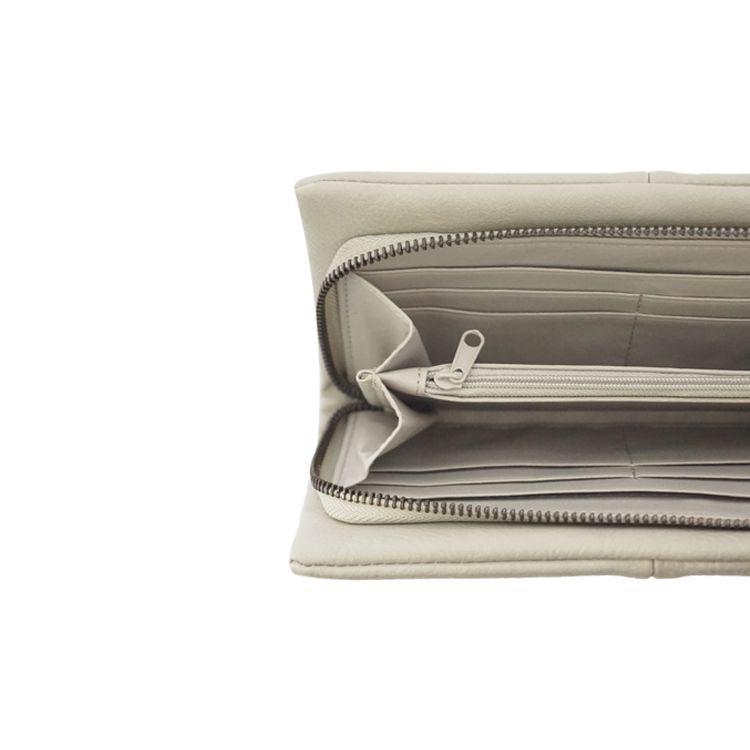 Zusss Luxe Portemonnee 21x11,5x2,5cm, krijt