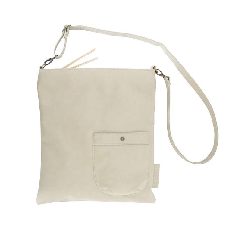 Zusss Eenvoudige tas L 40x35cm, krijt