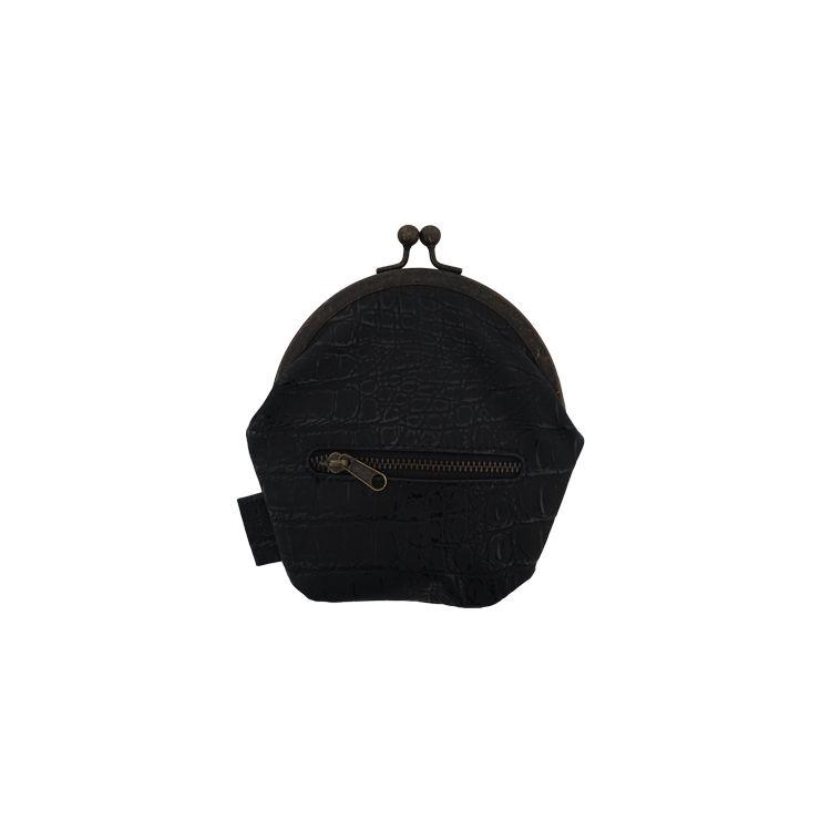 Zusss Knip/portemonnee 13x15cm, kroko zwart
