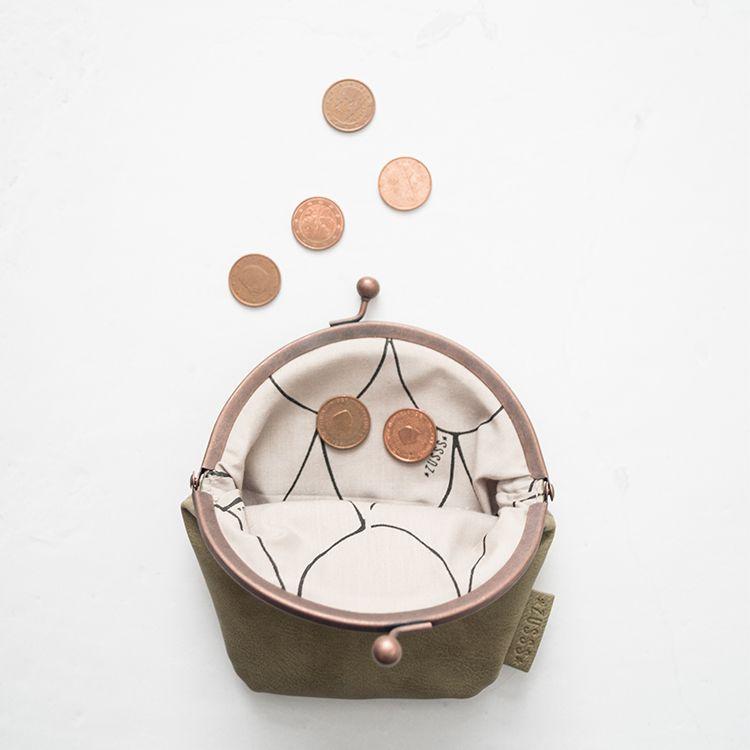 Zusss Knip/portemonnee 13x15cm, zand