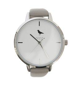 Zusss Hip horloge zilver-grijs