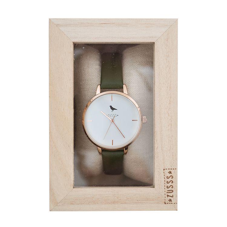 Zusss Hip horloge rose-groen