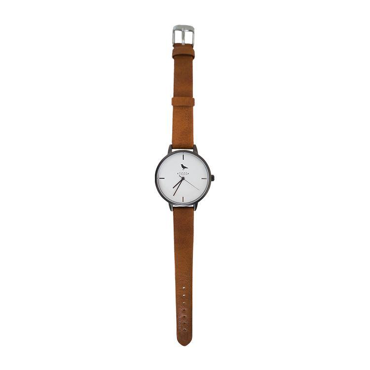 Zusss Hip horloge antraciet-kerrie