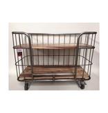 metalen trolley op wielen 80x60x40cm