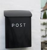 IB Laursen Metalen brievenbus 'post' 12x35x25cm, zwart