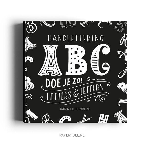 Paperfuel Boek handlettering ABC doe je zo van Karin Luttenberg