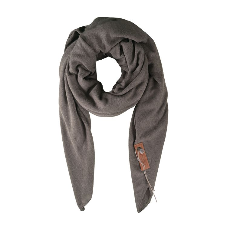 Zusss stoere grote sjaal 180x180cm, steengrijs