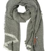 Zusss Gespikkelde sjaal 70x210cm, zwart