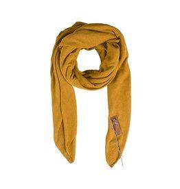 Zusss stoere grote sjaal oker