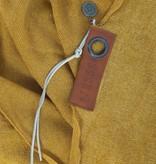 Zusss stoere grote sjaal 180x180cm, oker