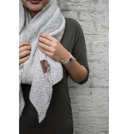 Zusss sjaal met punten ijsgrijs