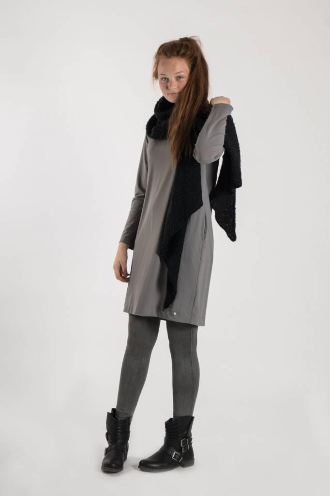 Zusss sjaal met punten 50x250cm, off black