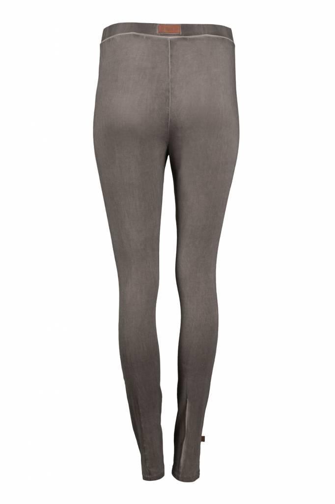 Zusss Gewassen jersey legging grijs M/L