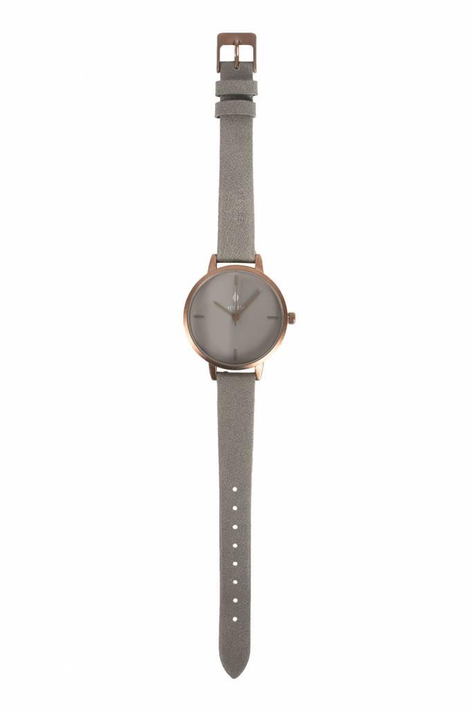 Zusss Hip horloge brons-steengrijs