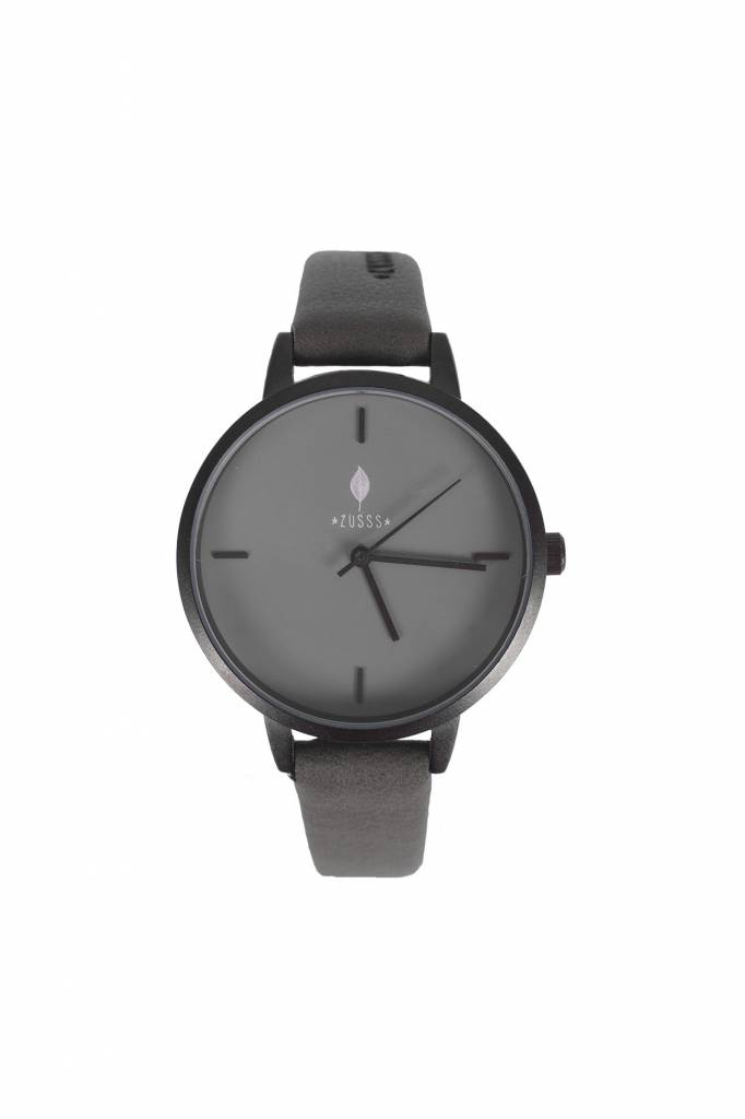Zusss Hip horloge mat zwart - leemgrijs