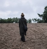 Zusss Ronde hippe schoudertas L 34x31x8cm, zwart