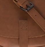 Zusss Ronde hippe schoudertas S 19x18x5cm, roestbruin