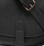 Zusss Ronde hippe schoudertas S 19x18x5cm, zwart