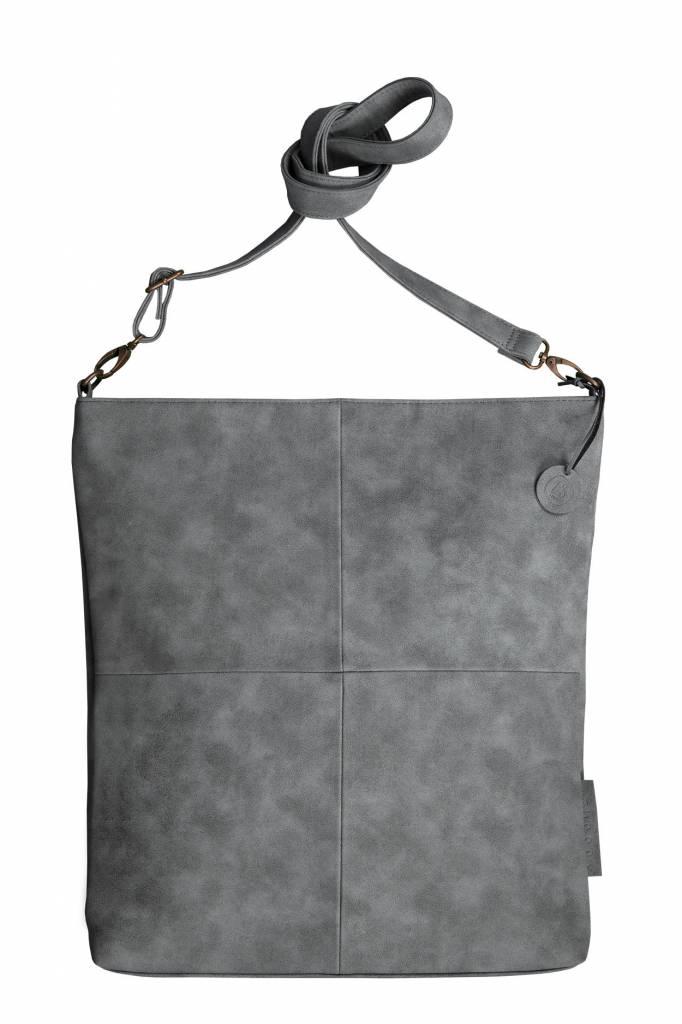 Zusss Leuke tas L 40x35x2cm, steengrijs