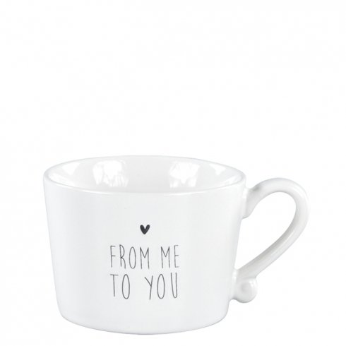 Bastion Collections Mug Small White/From me to You in Black