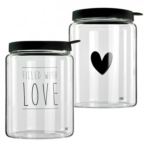 Bastion Collections Storage Large - heart in black