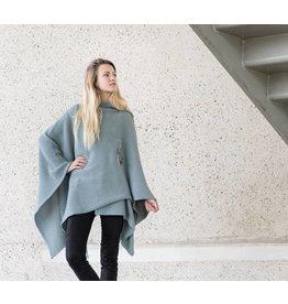 Knit Factory Omslagvest Jazz stone green