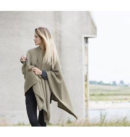 Knit Factory Omslagvest Jazz olijf
