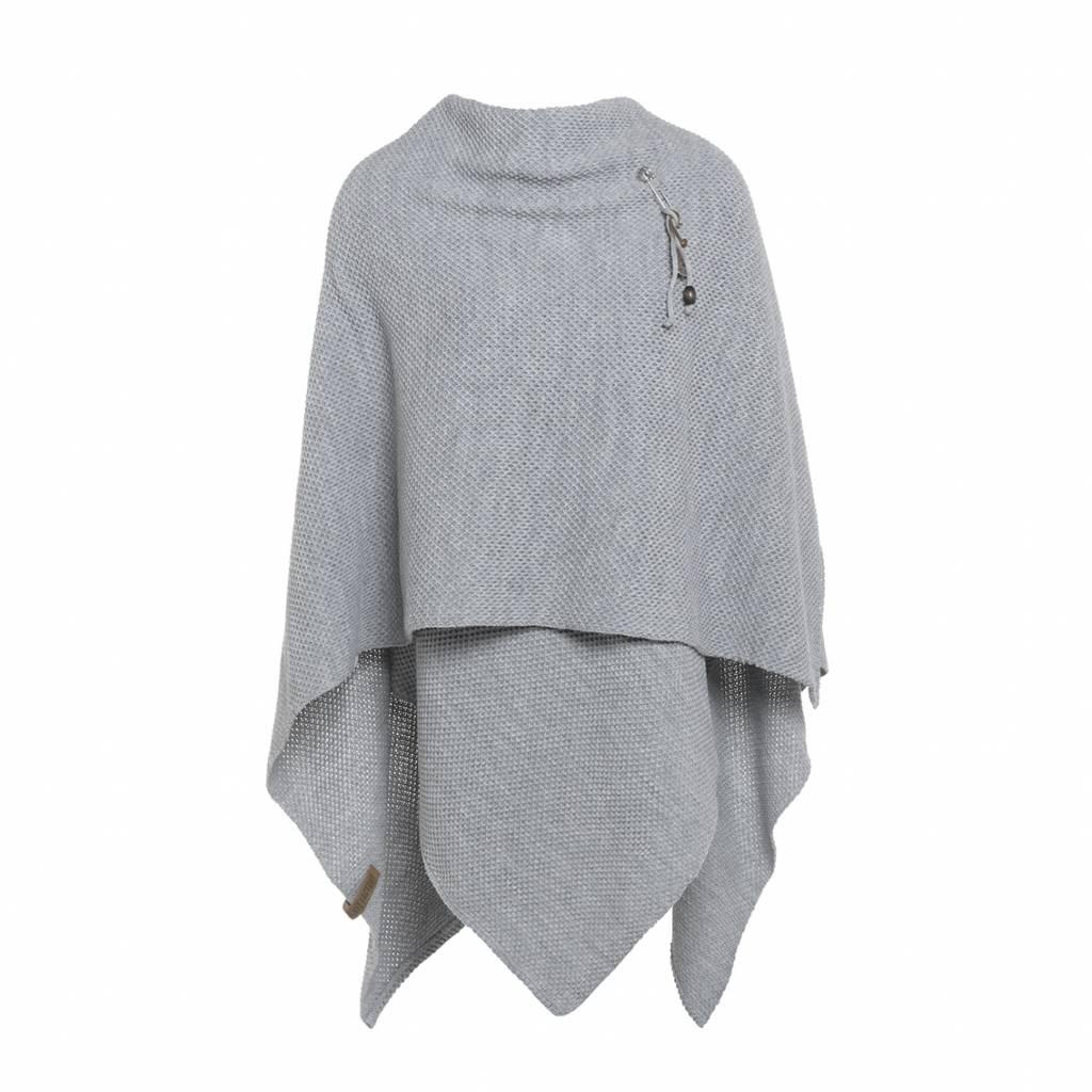 Knit Factory Omslagvast 130x160cm, licht grijs
