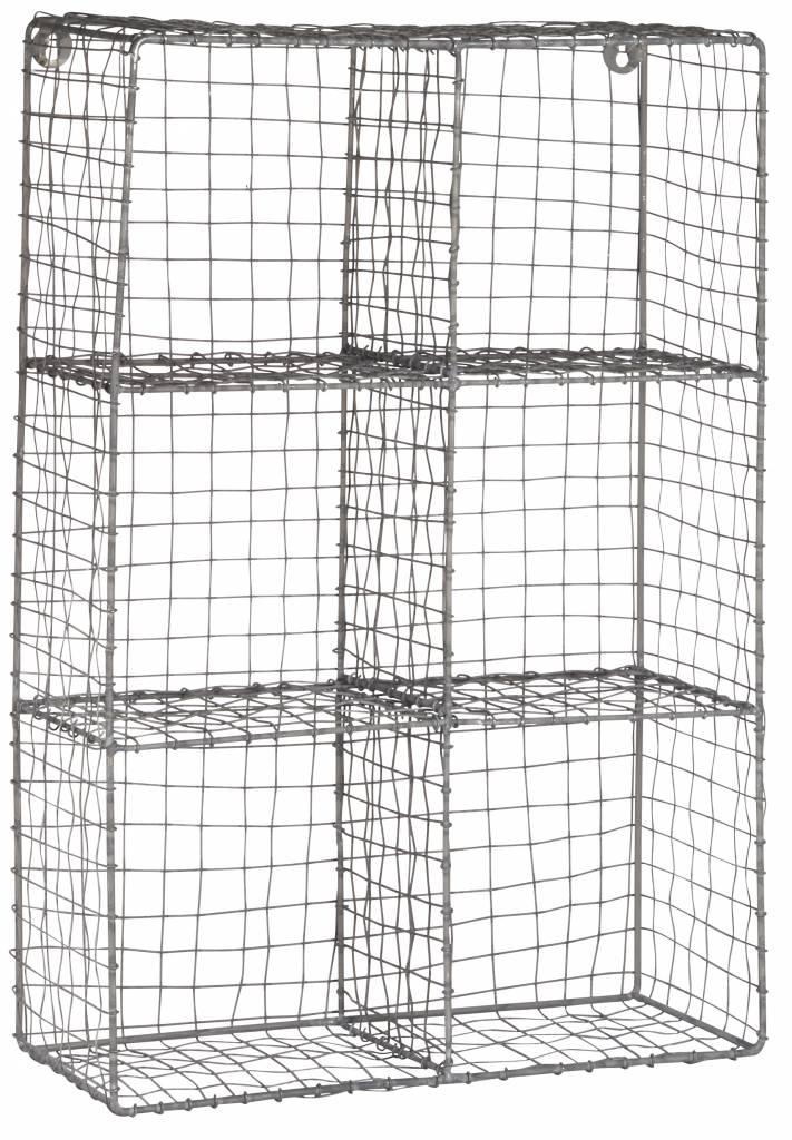IB Laursen wandrek 6 vaks, 43x17x63cm, zink