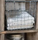 IB Laursen Opbergmand 'Basket Wire', 20x20x22cm, zink