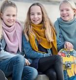 Knit Factory Junior omslagdoek / sjaal 60x140cm, lichtgrijs
