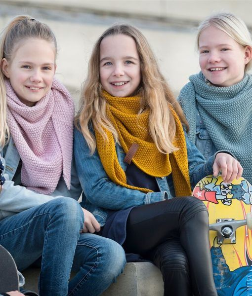 Knit Factory Junior omslagdoek / sjaal 60x140cm, Jeans