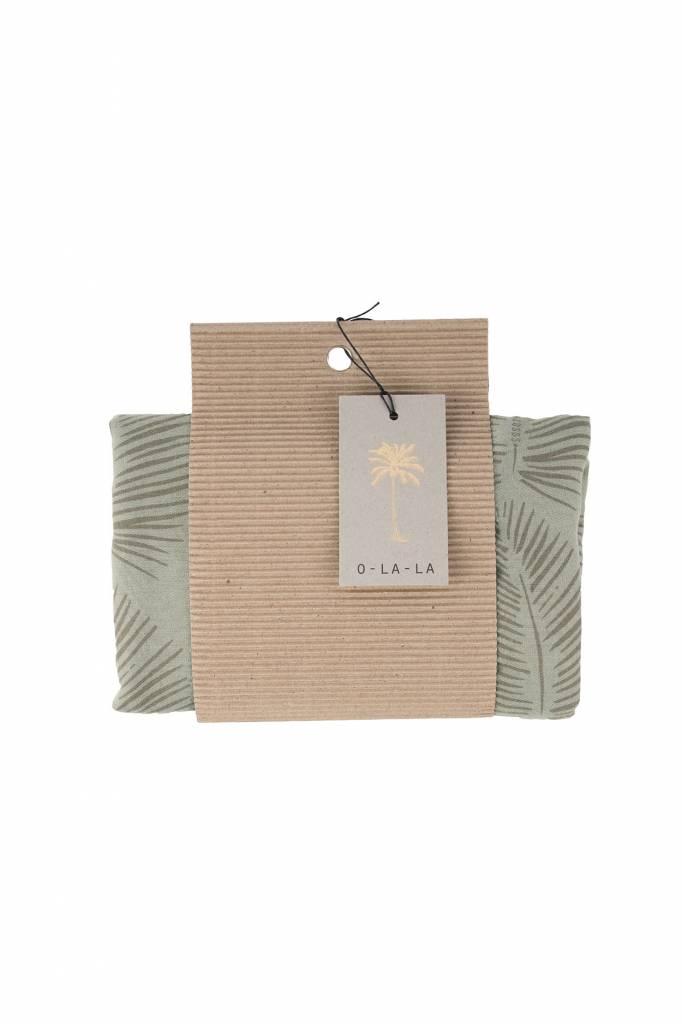 Zusss Sjaal met blad zeegroen, 95x180cm