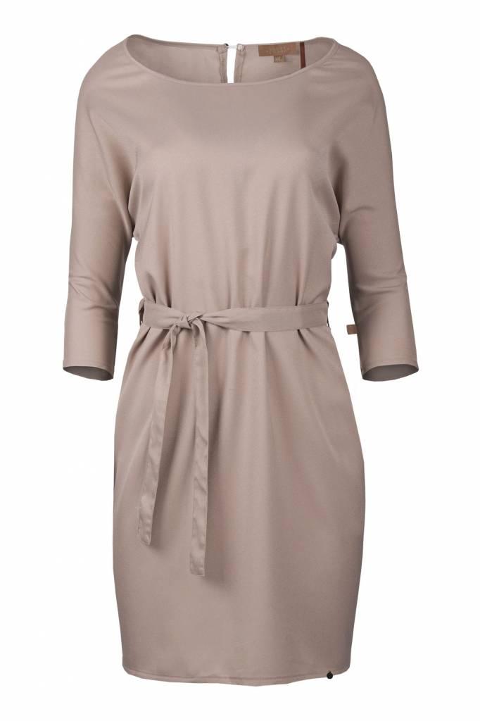 Zusss Sjiek jurkje met centuur poederroze L/XL