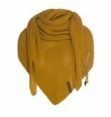 Knit Factory Omslagdoek / sjaal 85x200cm, Oker