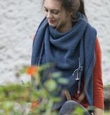 Knit Factory Omslagdoek / sjaal 85x200cm, Jeans