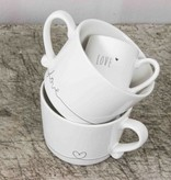 Bastion Collections Mug White/Line Heart in Black