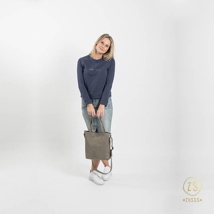 Zusss Stoere trui - nachtblauw M/L