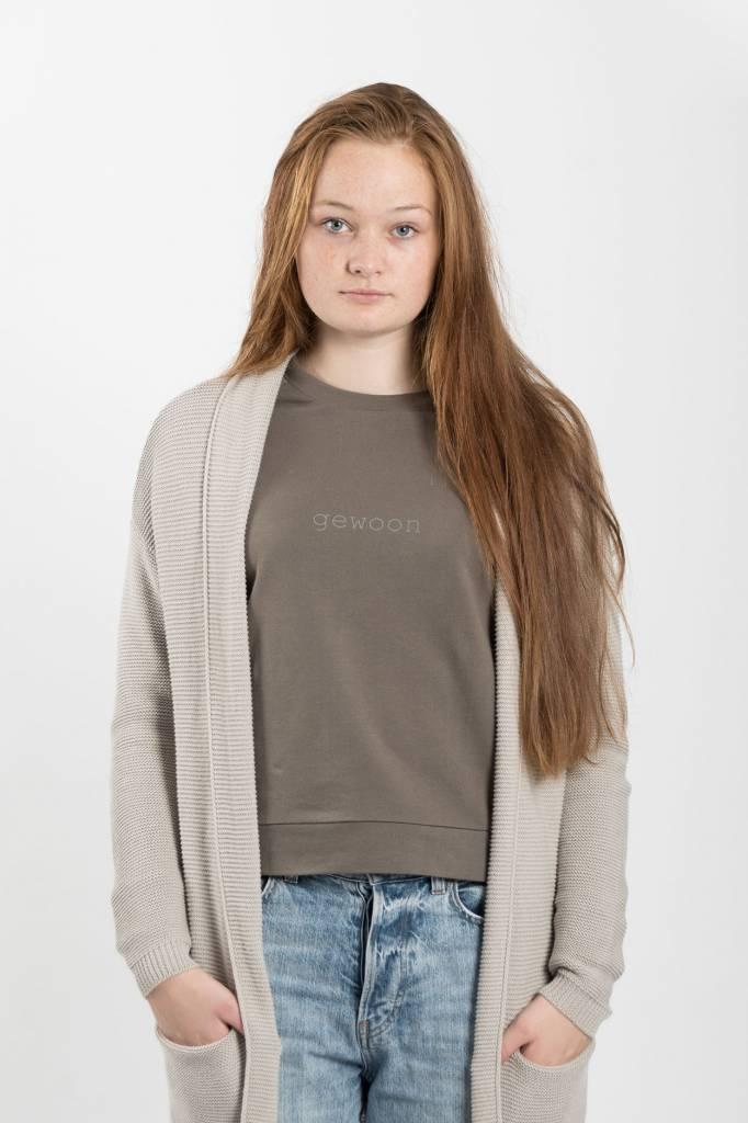 Zusss Stoere trui - leemgroen S/M