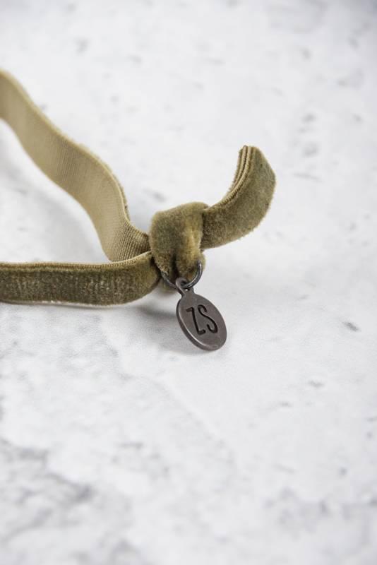Zusss armband 24cm, fluweel - groen
