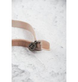 Zusss armbandje fluweel - poederroze