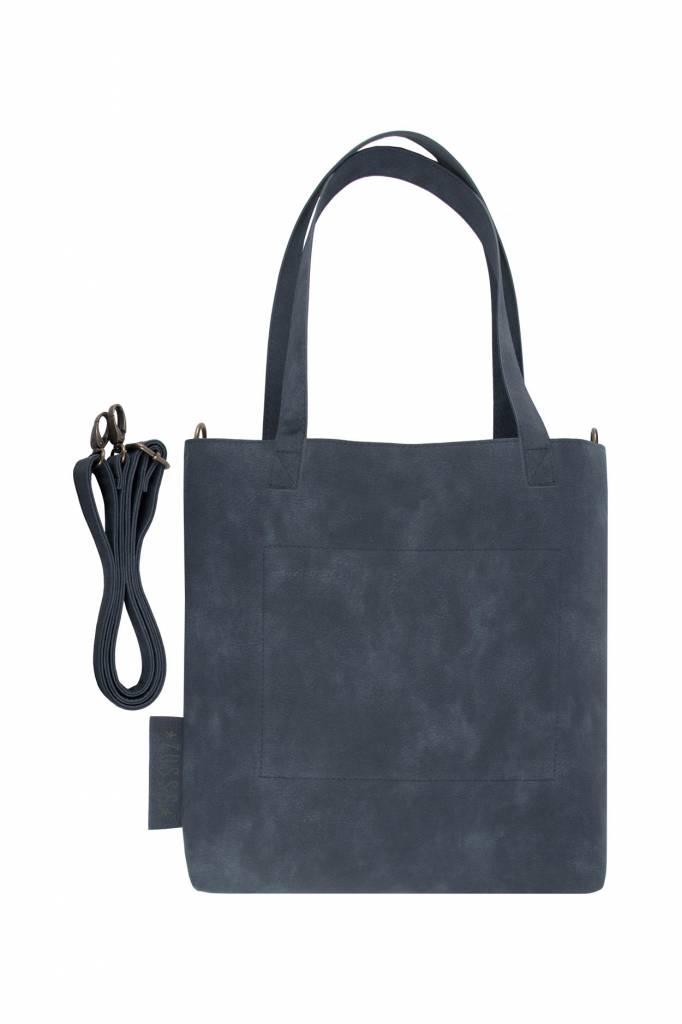 Zusss Stoere shopper M  32x27cm - nachtblauw