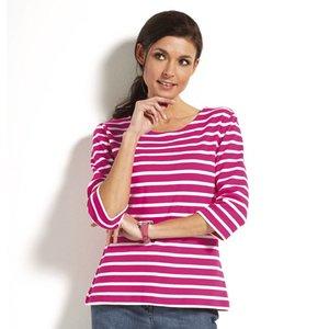 Modas Bretonse streepshirt dames 3/4e mouw