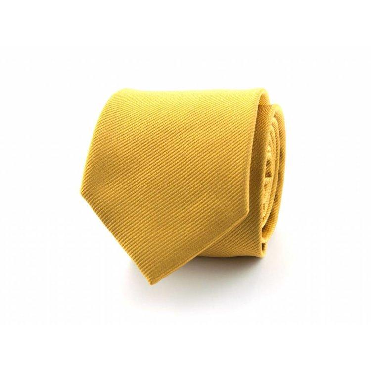 Zijden stropdas - Goudgeel