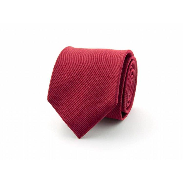 Zijden stropdas - Warmrood