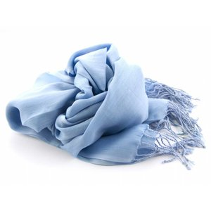 Pashmina sjaal - Lichtblauw