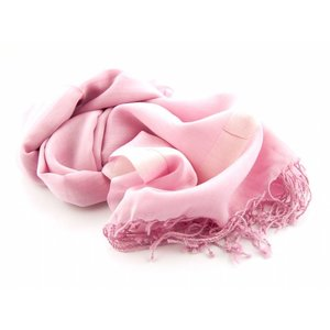 Pashmina sjaal Katoen/zijde - Rose