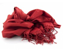 Pashmina sjaal - Rood